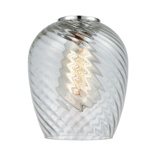 Clear Spiral Fluted Salina Globe Glass variant