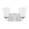 This item: HomePlace Braylon Brushed Nickel 14-Inch Two-Light Bath Vanity