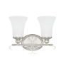 This item: HomePlace Griffin Brushed Nickel 14-Inch Two-Light Bath Vanity