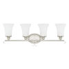 This item: HomePlace Griffin Brushed Nickel 31-Inch Four-Light Bath Vanity