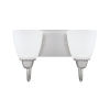 This item: HomePlace Trenton Brushed Nickel 13-Inch Two-Light Bath Vanity