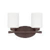 This item: HomePlace Dixon Bronze 13-Inch Two-Light Bath Vanity