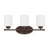 This item: HomePlace Dixon Bronze 21-Inch Three-Light Bath Vanity
