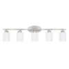 This item: HomePlace Dixon Brushed Nickel 37-Inch Five-Light Bath Vanity