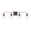 This item: HomePlace Tanner Bronze 34-Inch Four-Light Bath Vanity