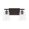 This item: HomePlace Greyson Bronze 15-Inch Two-Light Bath Vanity