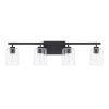 This item: HomePlace Greyson Matte Black 35-Inch Four-Light Bath Vanity