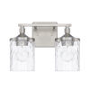 This item: HomePlace Colton Brushed Nickel 13-Inch Two-Light Bath Vanity