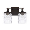 This item: HomePlace Colton Bronze 13-Inch Two-Light Bath Vanity