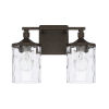 This item: HomePlace Collier Urban Brown 13-Inch Two-Light Bath Vanity
