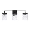 This item: HomePlace Colton Matte Black 24-Inch Three-Light Bath Vanity