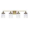 This item: HomePlace Colton Aged Brass 34-Inch Four-Light Bath Vanity
