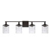 This item: HomePlace Colton Bronze 34-Inch Four-Light Bath Vanity