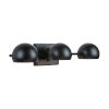 This item: Hadley Matte Black Three-Light Vanity
