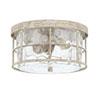 This item: Beaufort Gray Two Light Flush Mount
