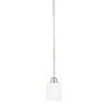 This item: HomePlace Hayden Brushed Nickel 53-Inch One-Light Mini Pendant