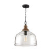 This item: Grey Wash and Iron Silk One-Light Pendant with Clear Organic Rippled Glass