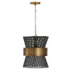 This item: Patinaed Brass and Black 13-Inch One-Light Pendant
