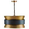 This item: Independent Patinaed Brass and Dark Zinc Four-Light Pendant