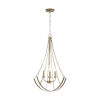 This item: Aged Brass Painted Four-Light Pendant