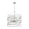 This item: Arlo Aged Brass and Black 22-Inch Six-Light Pendant
