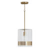This item: Polished Brass 10-Inch One-Light Mini Pendant with Clear Glass
