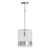 This item: Polished Nickel 10-Inch One-Light Mini Pendant with Clear Glass