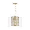 This item: Aged Brass Painted One-Light Pendant with Clear Glass