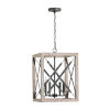 This item: Remi Brushed White Wash and Nordic Iron Four-Light Pendant