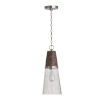 This item: Connor Black Wash and Matte Nickel One-Light Mini Pendant with Clear Stone Seeded Glass