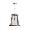 This item: Connor Black Wash and Matte Nickel 20-Inch One-Light Pendant with Clear Stone Seeded Glass