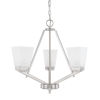 This item: HomePlace Baxley Brushed Nickel 21-Inch Three-Light Chandelier