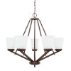 This item: HomePlace Baxley Bronze 26-Inch Five-Light Chandelier