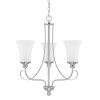 This item: HomePlace Griffin Brushed Nickel 21-Inch Three-Light Chandelier