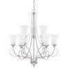 This item: HomePlace Griffin Brushed Nickel 31-Inch Nine-Light Chandelier