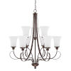 This item: HomePlace Griffin Bronze 31-Inch Nine-Light Chandelier
