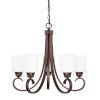 This item: HomePlace Hayden Bronze 24-Inch Five-Light Chandelier