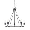 This item: HomePlace Tanner Matte Black 27-Inch Five-Light Chandelier
