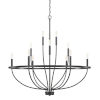 This item: HomePlace Greyson Matte Black 40-Inch 12-Light Chandelier