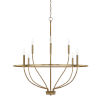This item: HomePlace Greyson Aged Brass 34-Inch Eight-Light Chandelier