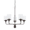 This item: HomePlace Colton Bronze 28-Inch Five-Light Chandelier