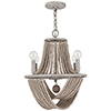 This item: Kayla Mystic Sand Four-Light Chandelier