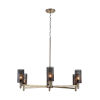 This item: Dax Aged Brass and Black Six-Light Chandelier