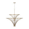 This item: Fontaine Aged Brass Painted Nine-Light Chandelier
