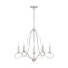 This item: HomePlace Cameron Brushed Nickel Five-Light Chandelier