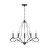 This item: HomePlace Cameron Matte Black Five-Light Chandelier