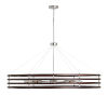 This item: Dalton Dark Wood and Polished Nickel Eight-Light Chandelier