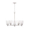 This item: HomePlace Myles Brushed Nickel Five-Light Chandelier with Clear Seeded Glass