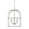 This item: HomePlace Brushed Nickel 13-Inch Four-Light Pendant