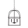This item: HomePlace Matte Black 13-Inch Four-Light Pendant